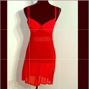 Red & Black Polka Dotted Donna Secret Lingerie